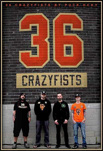 36 CRAZYFISTS 'ALASKAN MADE METAL' HOCKEY STICKER