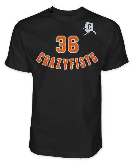 36 CRAZYFISTS 'ISLANDERS ARCH' short sleeve hockey t-shirt