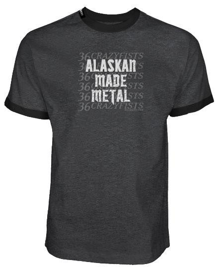 36 CRAZYFISTS 'ALASKAN MADE METAL' short sleeve hockey t-shirt front view
