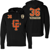 36 CRAZYFISTS 'BROCK STREET BULLY' pullover hockey hoodie front and back