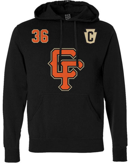 36 CRAZYFISTS 'BROCK STREET BULLY' pullover hockey hoodie front