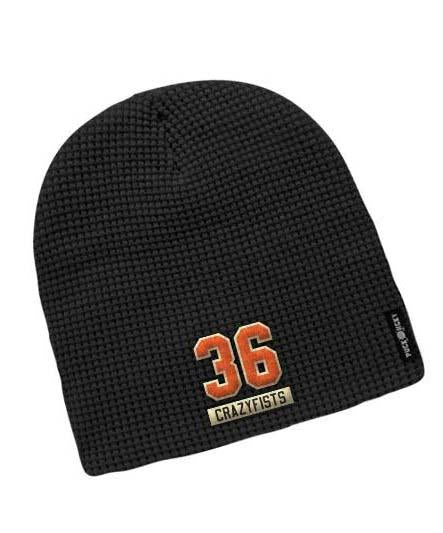 36 CRAZYFISTS 'BROCK STREET BULLY' waffle knit hockey hat