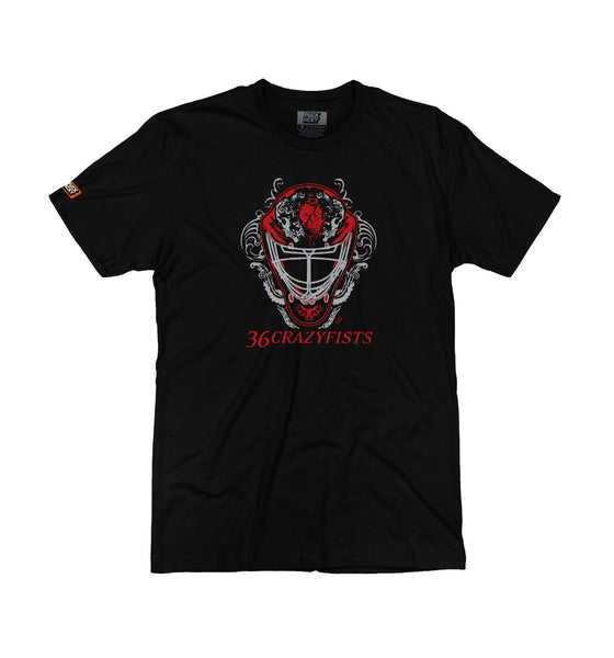 36 CRAZYFISTS 'SAVES' short sleeve hockey t-shirt in black