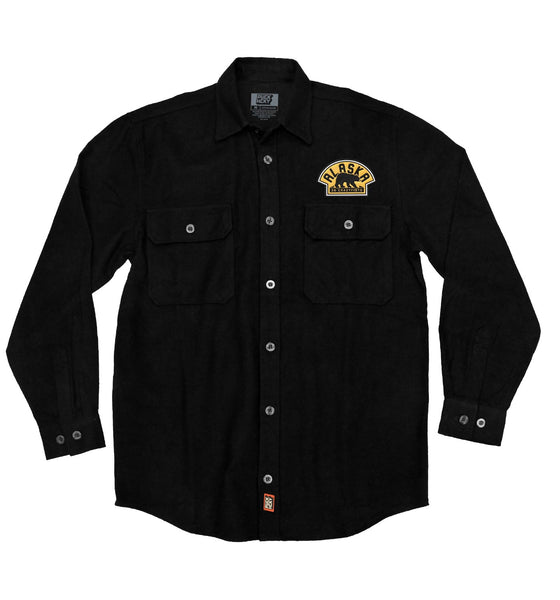 36 CRAZYFISTS 'VINTAGE ALASKA' hockey flannel in black