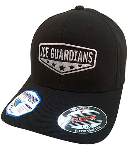 ICE GUARDIANS 'ULTIMATE TEAMMATE' hockey cap in black front view