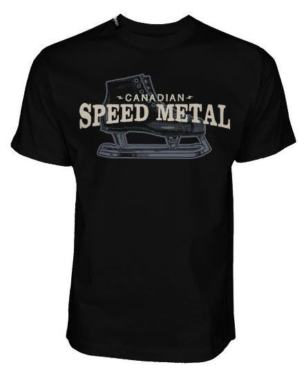 PUCK HCKY 'SPEED METAL' short sleeve hockey t-shirt front view
