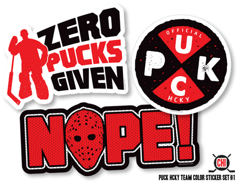 PUCK HCKY 'PUCK PIN-UPS' HOCKEY STICKERS
