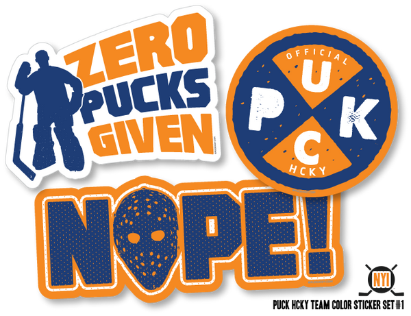 STICKER SET #1 in team colors by PUCK HCKY (see more colors)
