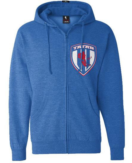 TOMAS TATAR 'SLOVAK SHIELD' full zip hockey hoodie front view