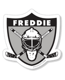 FREDDIE ANDERSEN 'RAIDERS SHIELD' hockey sticker