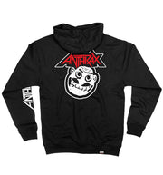 ANTHRAX 'NOT' full zip hockey hoodie in black back view