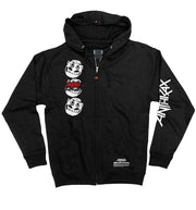 ANTHRAX 'NOT' full zip hockey hoodie in black front view