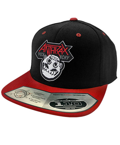 ANTHRAX 'NOT' snapback hockey cap in black and red