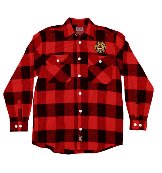OUT FOR A RIP - B RICH 'HOCKEY NIGHT' hockey flannel in red plaid