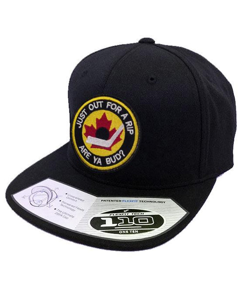 B.RICH 'HOCKEY NIGHT' snapback hockey cap in black