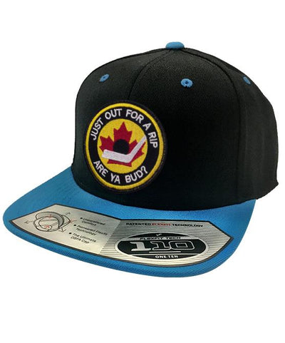 B.RICH 'HOCKEY NIGHT' snapback hockey cap in black/teal