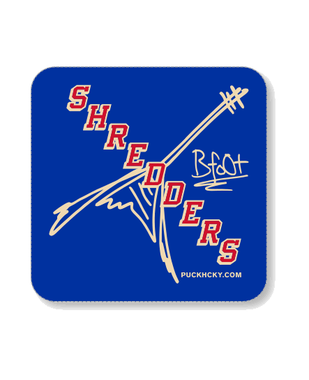 BUMBLEFOOT 'SHREDDERS NY' hockey sticker