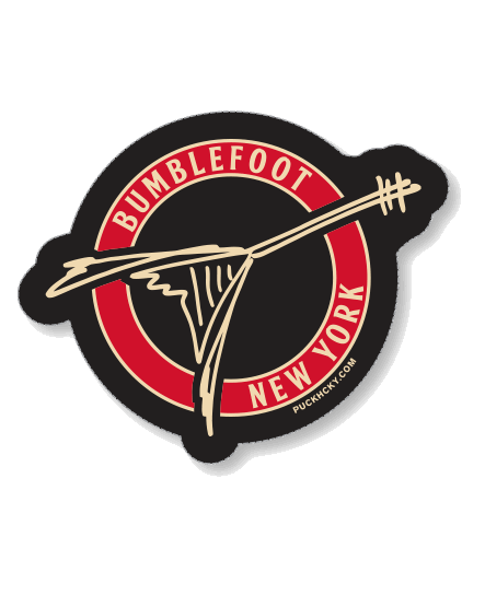 BUMBLEFOOT 'RIPPIN SOLO' hockey sticker