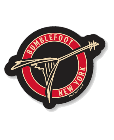 BUMBLEFOOT 'DOUBLEBFOOT' HOCKEY STICKER