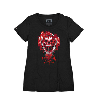 CANNIBAL CORPSE 'CODE OF THE TENDERS' women's short sleeve hockey t-shirt in black