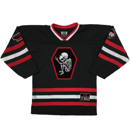 TESTAMENT 'PUCKS OF BLACK' HOCKEY JERSEY (black/purple/grey)