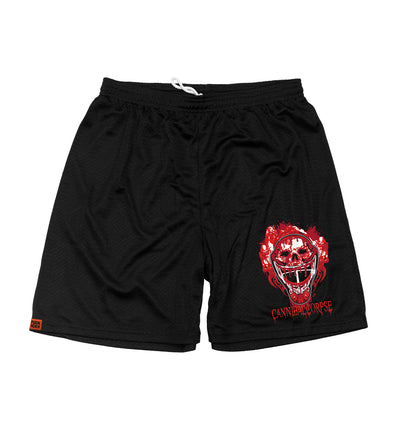 CANNIBAL CORPSE 'OFF-ICE TRAINER' mesh hockey shorts in black