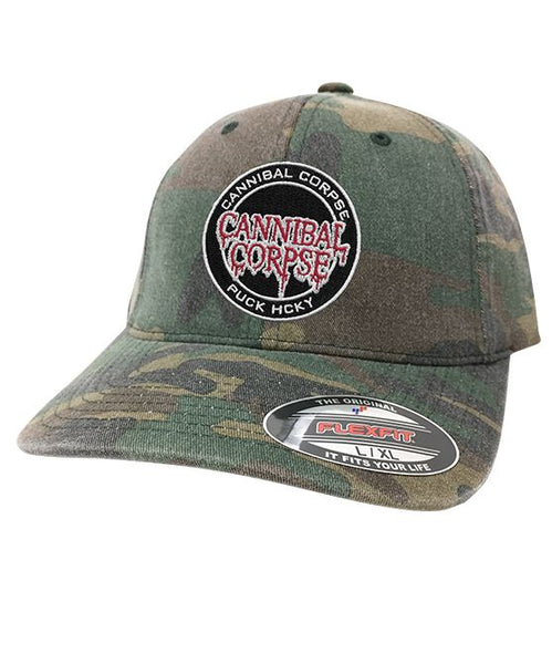 CANNIBAL CORPSE 'OFFICIAL PUCK' fitted hockey cap in green camo