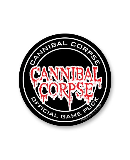CANNIBAL CORPSE 'OFFICIAL PUCK' hockey sticker