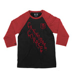 CANNIBAL CORPSE 'ON THE DIAG' hockey raglan in black with red sleeves