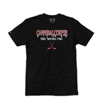 CANNIBAL CORPSE 'PUCK SMASHED FACE' short sleeve hockey t-shirt in black