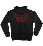 CANNIBAL CORPSE 'SKATIN' BACK TO LIFE' full zip hockey hoodie in black back view