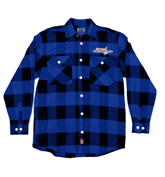 DARKEST HOUR 'TIMELESS NUMBERS' hockey flannel in blue plaid