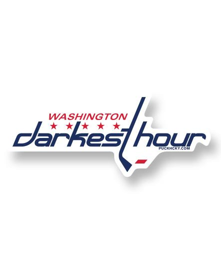 DARKEST HOUR 'TIMELESS NUMBERS' hockey sticker in the style of the Washington Capitals