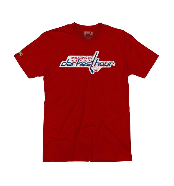 DARKEST HOUR 'TIMELESS NUMBERS' short sleeve hockey t-shirt in red
