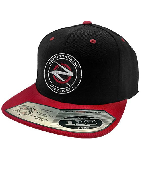 DEVIN TOWNSEND 'OFFICIAL PUCK' snapback hockey cap in black and red