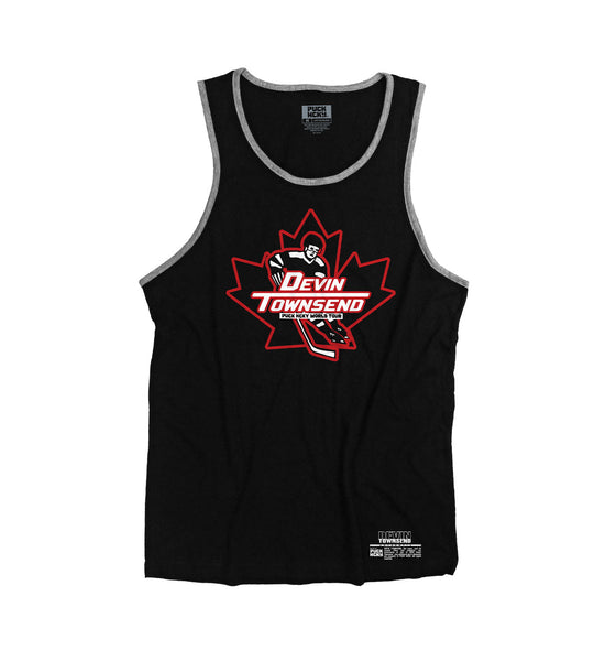 DEVIN TOWNSEND 'OVER THE BOARDS' hockey tank top in black with grey trim