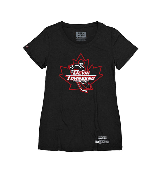 DEVIN TOWNSEND 'OVER THE BOARDS' women's short sleeve hockey t-shirt in black