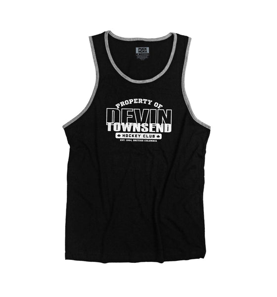 DEVIN TOWNSEND 'PROPERTY OF' hockey tank top in black