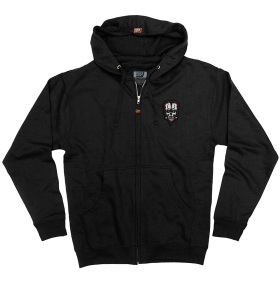 DOYLE 'FIEND' zip hockey hoodie in solid black