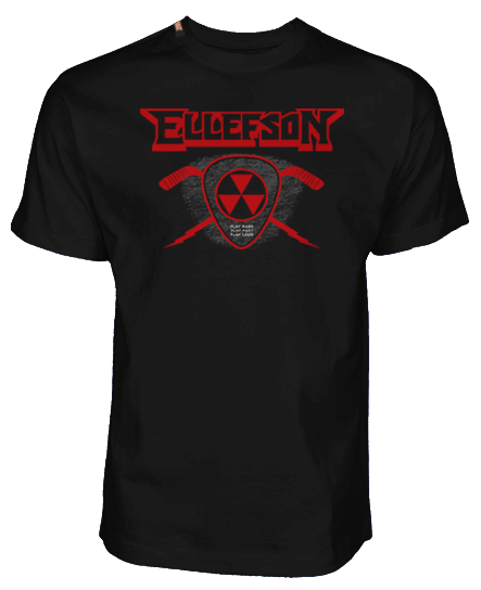 DAVID ELLEFSON 'STICK AND PICK' HOCKEY T-SHIRT