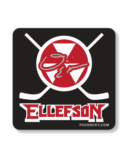 DAVID ELLEFSON 'THRASHERS' HOCKEY STICKER