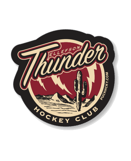 DAVID ELLEFSON 'THUNDER' HOCKEY STICKER