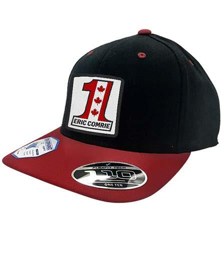 ERIC COMRIE 'UNO' snapback hockey cap in black/red
