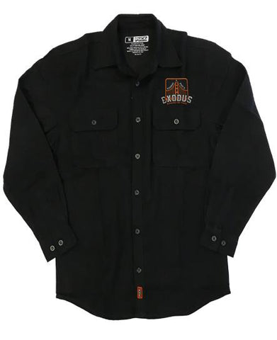 EXODUS 'TOXIC WALTZ' HOCKEY FLANNEL (black)