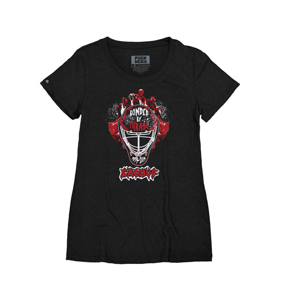 EXODUS 'MASK OF THE BEAST' women's short sleeve hockey t-shirt in black