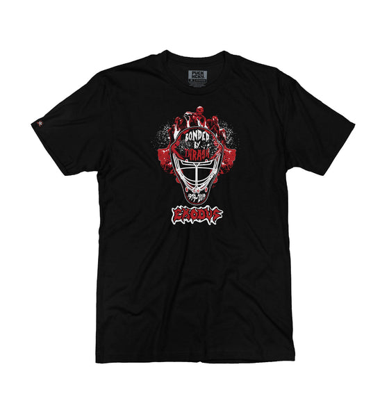 EXODUS 'MASK OF THE BEAST' short sleeve hockey t-shirt in black