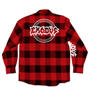 EXODUS 'OFFICIAL PUCK' flannel in red plaid back view