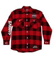 EXODUS 'OFFICIAL PUCK' flannel in red plaid front view