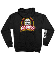 EXODUS 'SKULL-ING THE HERD' full zip hockey hoodie in black back view
