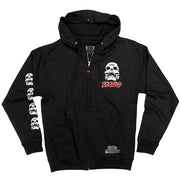 EXODUS 'SKULL-ING THE HERD' full zip hockey hoodie in black front view